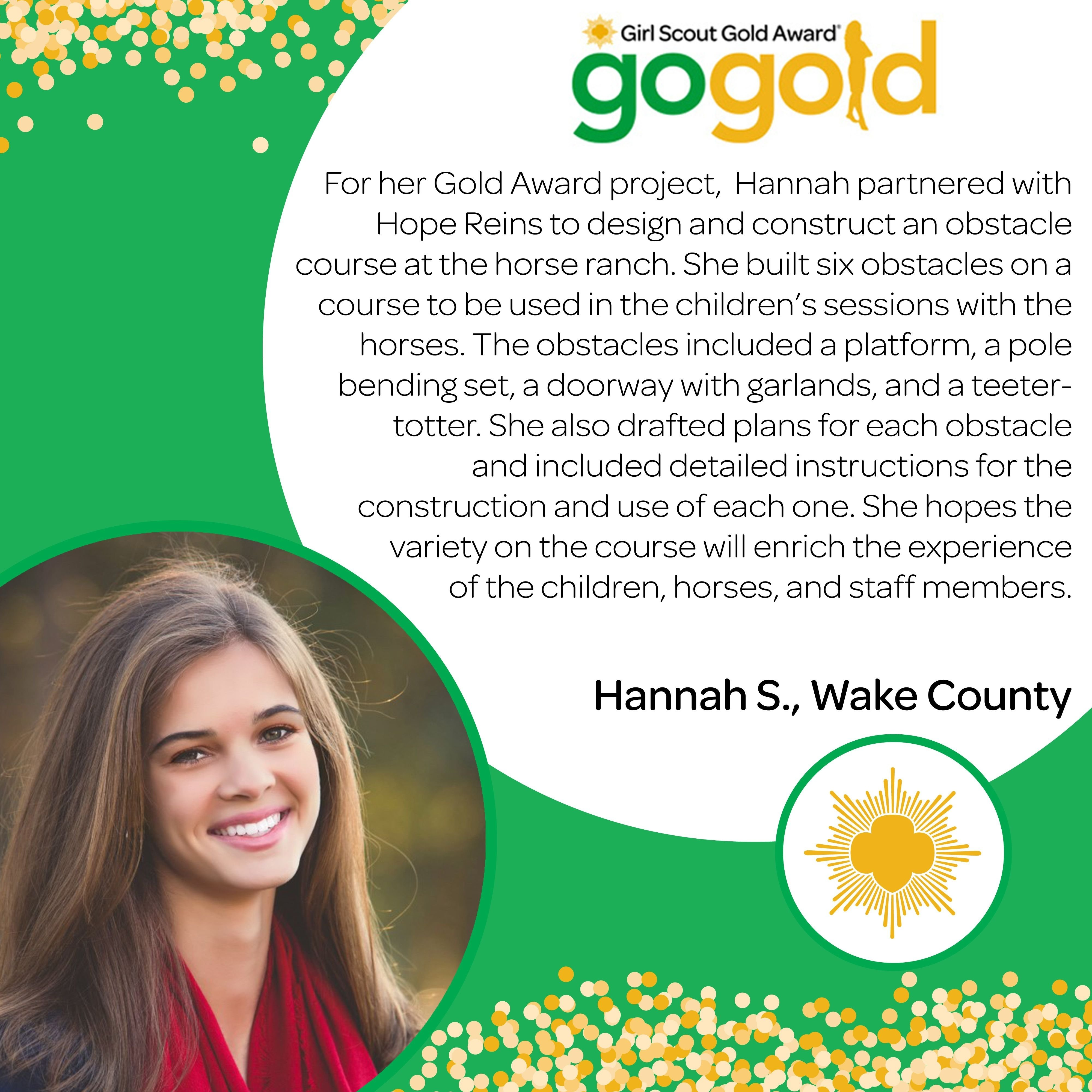 10 Elegant Girl Scout Gold Award Project Ideas thumbs up to hannah s for earning her gold award hannah created an 1 2020