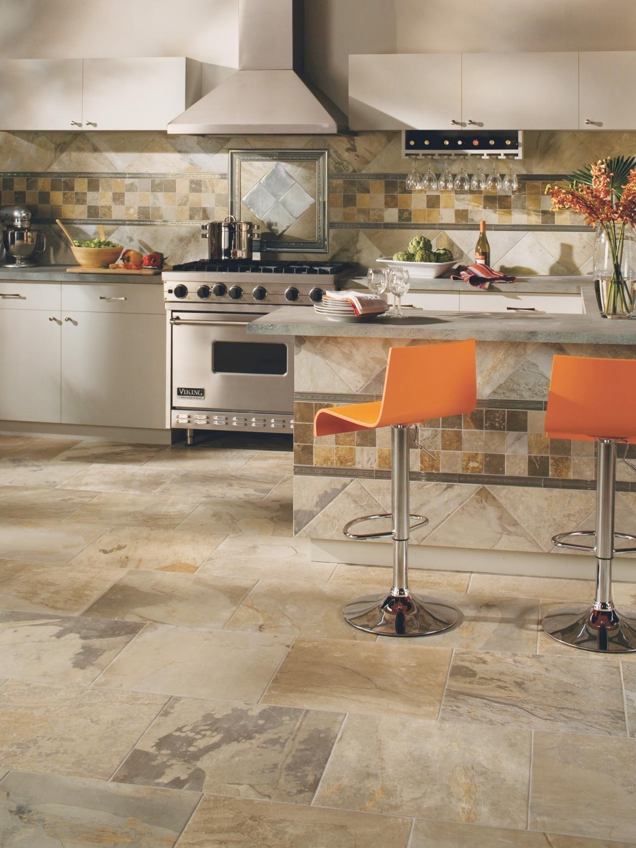 10 Fantastic Tile Flooring Ideas For Kitchen %name