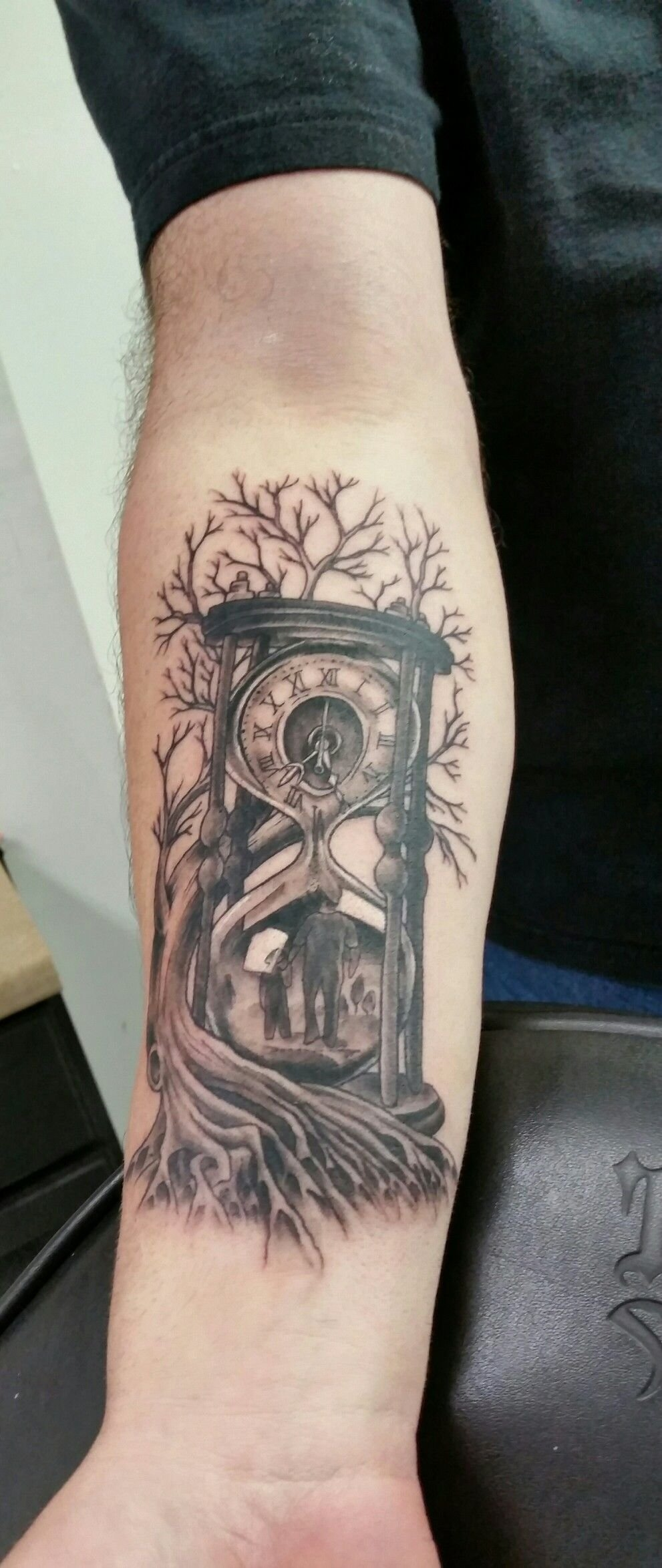 10 Best Son Tattoo Ideas For Dad time family father and son hour glass tree roots loving the