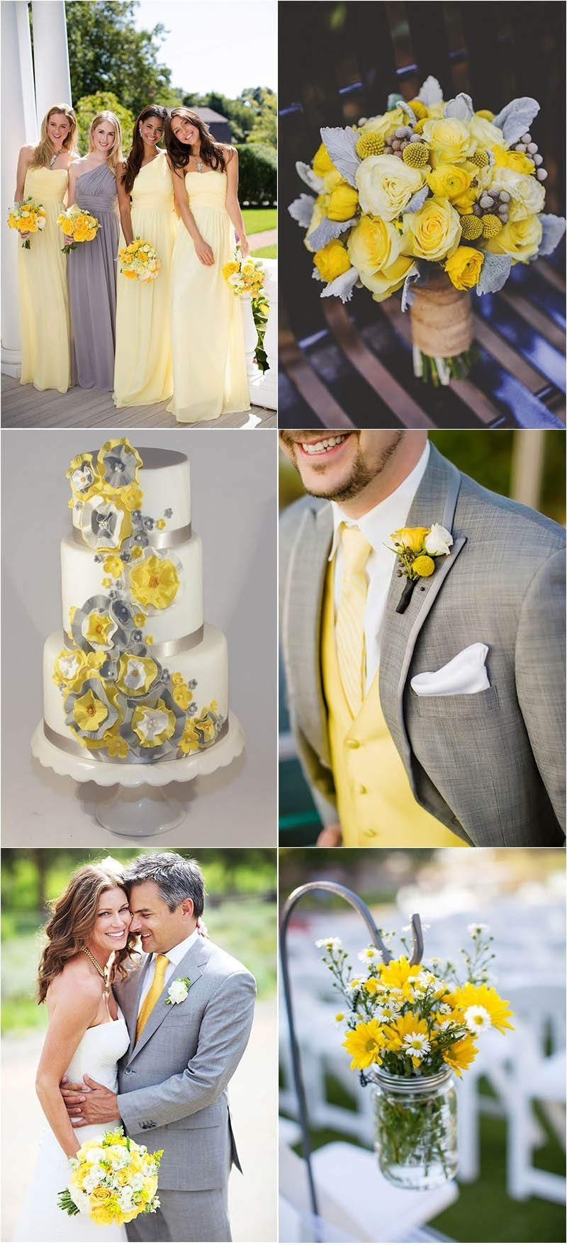 10 Most Recommended Grey And Yellow Wedding Ideas timeless grey wedding color palette ideas to inspire 2021