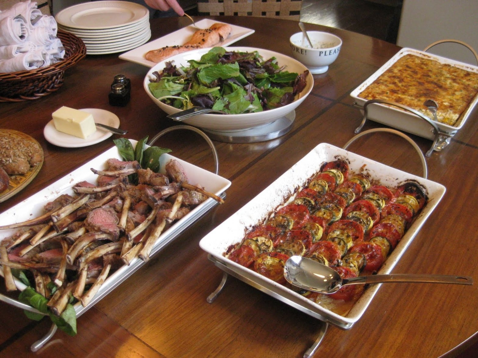 tips & ideas: vegetable tian: anatomy of a dinner party: buffet for