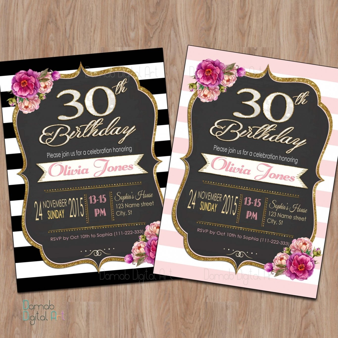 10 Gorgeous 30 Birthday Party Ideas For Her tips to create 30th birthday party invitations for her ideas 4