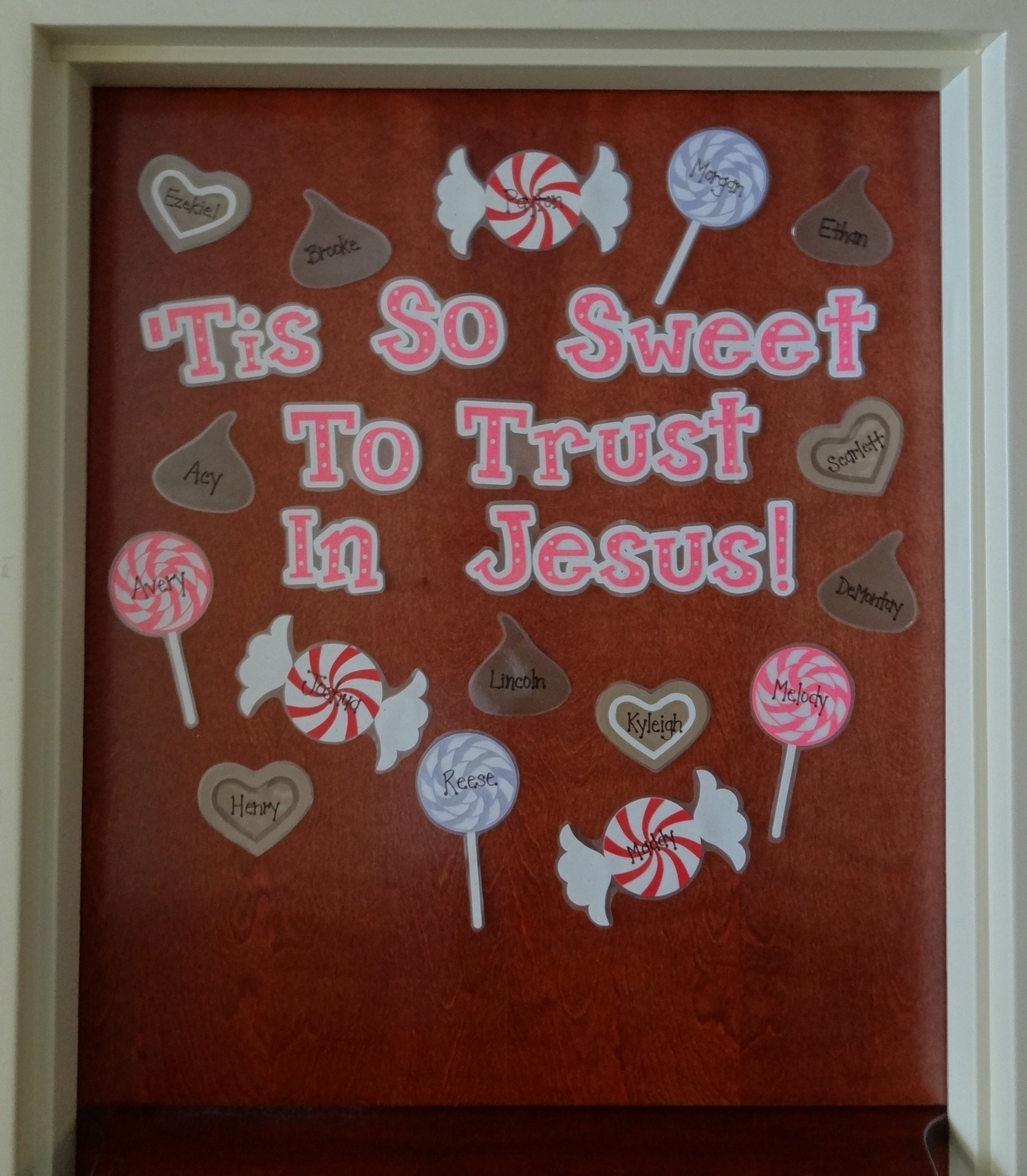 10 Unique Christmas Classroom Bulletin Board Ideas tis so sweet to trust in jesus christian valentines day display 1 2020