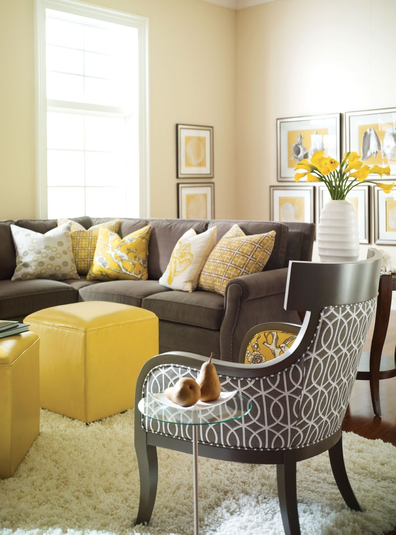 10 Beautiful Gray And Yellow Living Room Ideas tissus dameublement belles idees pour renover linterieur grey 2020
