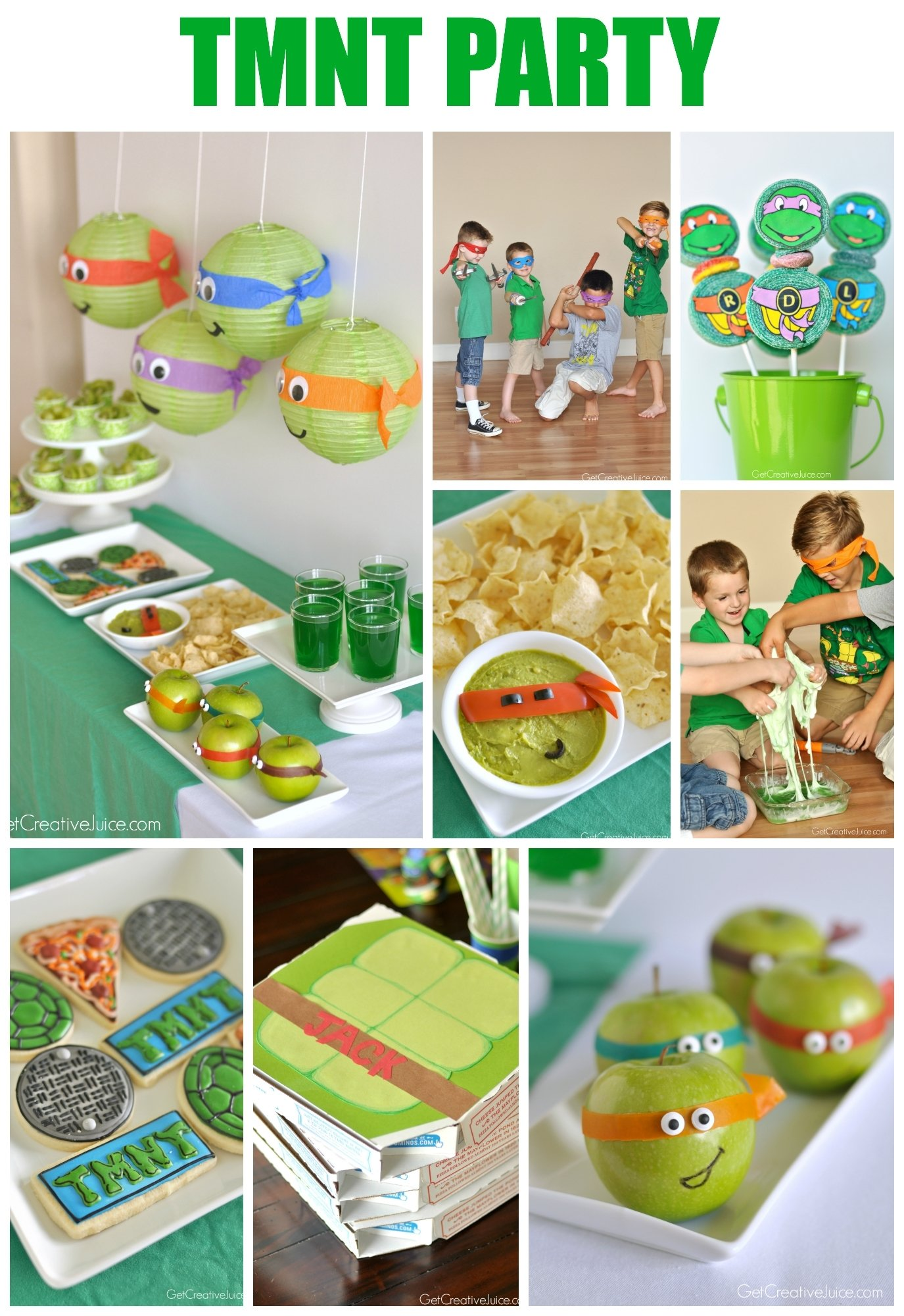 10 Pretty Ninja Turtles Theme Party Ideas tmnt party creative juice 5