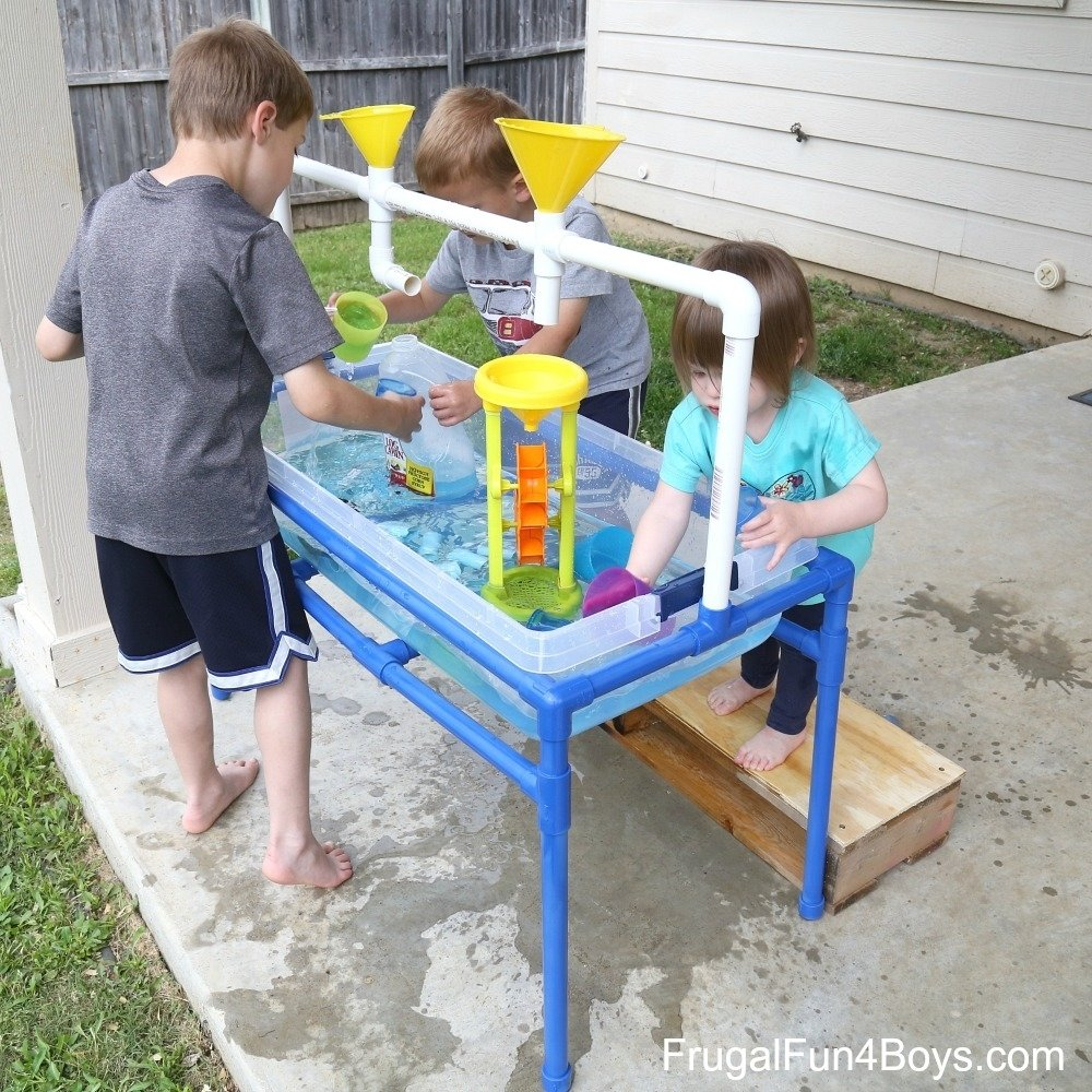 to make a pvc pipe sand and water table