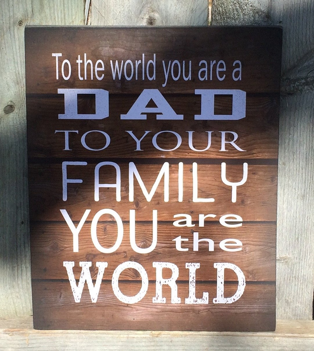 10 Nice Ideas For Dad For Christmas to the world dad wood sign canvas wall art banner christmas 1 2020