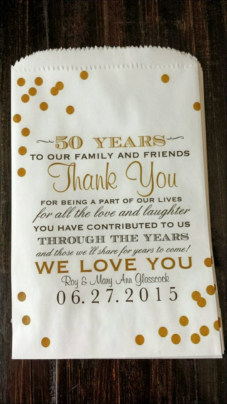 10 Cute 50Th Wedding Anniversary Gift Ideas Gold to write on thank you cards pinteres 1 2021