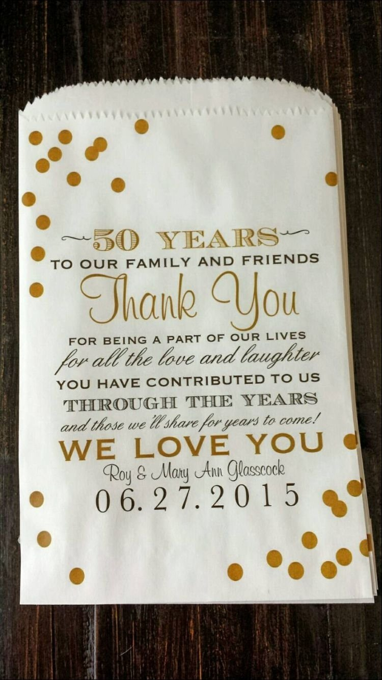 10 Beautiful Gift Ideas For 50Th Wedding Anniversary to write on thank you cards pinteres 3 2020