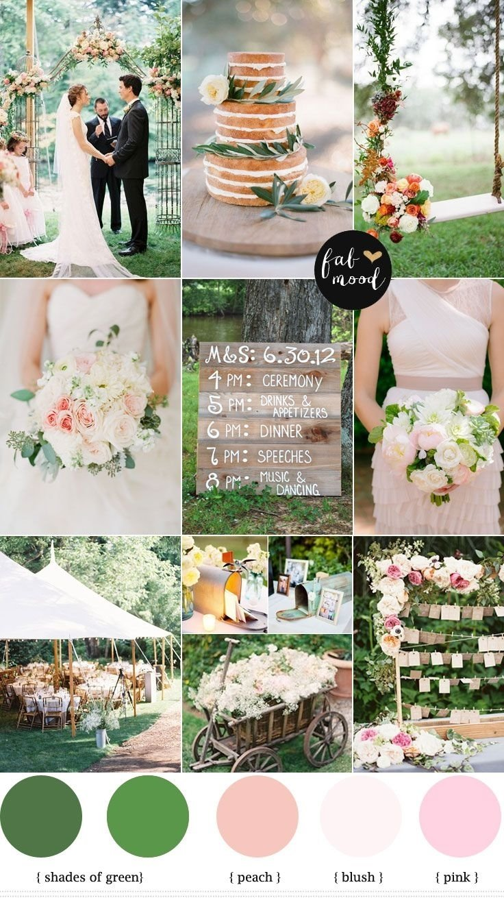 10 Awesome Pink And Green Wedding Ideas today post is special garden wedding palette blush pink garden 2020
