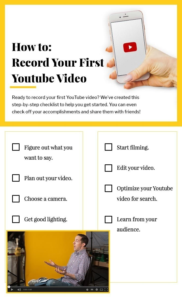 10 Gorgeous Ideas For First Youtube Video todayisyourday to record your first youtube video check out our 2020