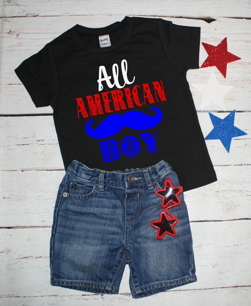 10 Wonderful 4Th Of July T Shirt Ideas toddler 4th of july fourth of julyall american boy red white and