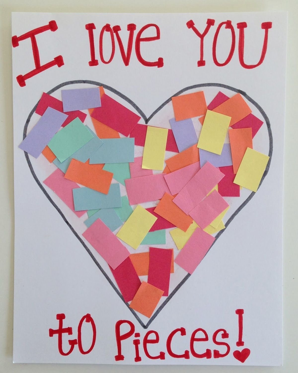 10 Elegant Valentines Day Ideas For Toddlers toddler valentines day craft i love you toddler card kid art