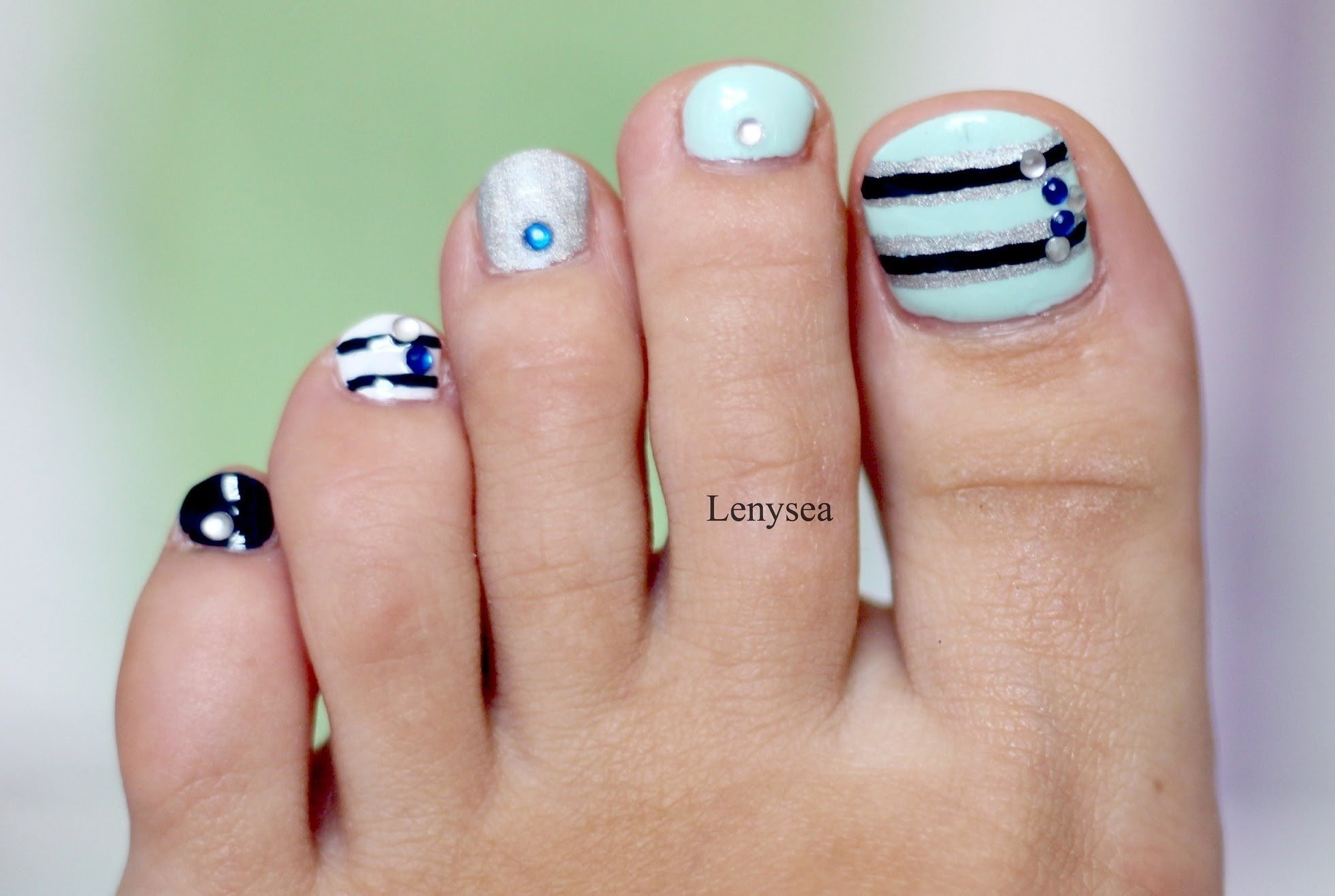toe nail art design for beginners - youtube