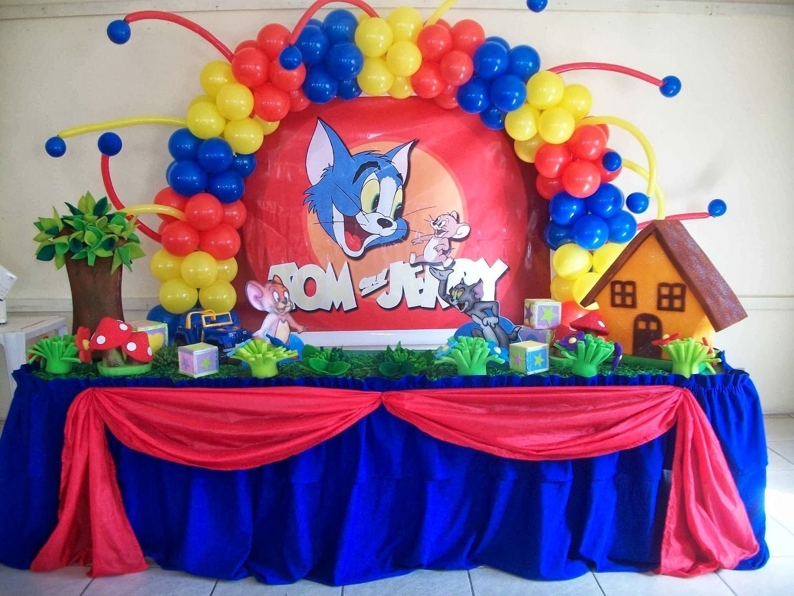 tom & jerry theme - 1 star | most beautiful birthday party themes