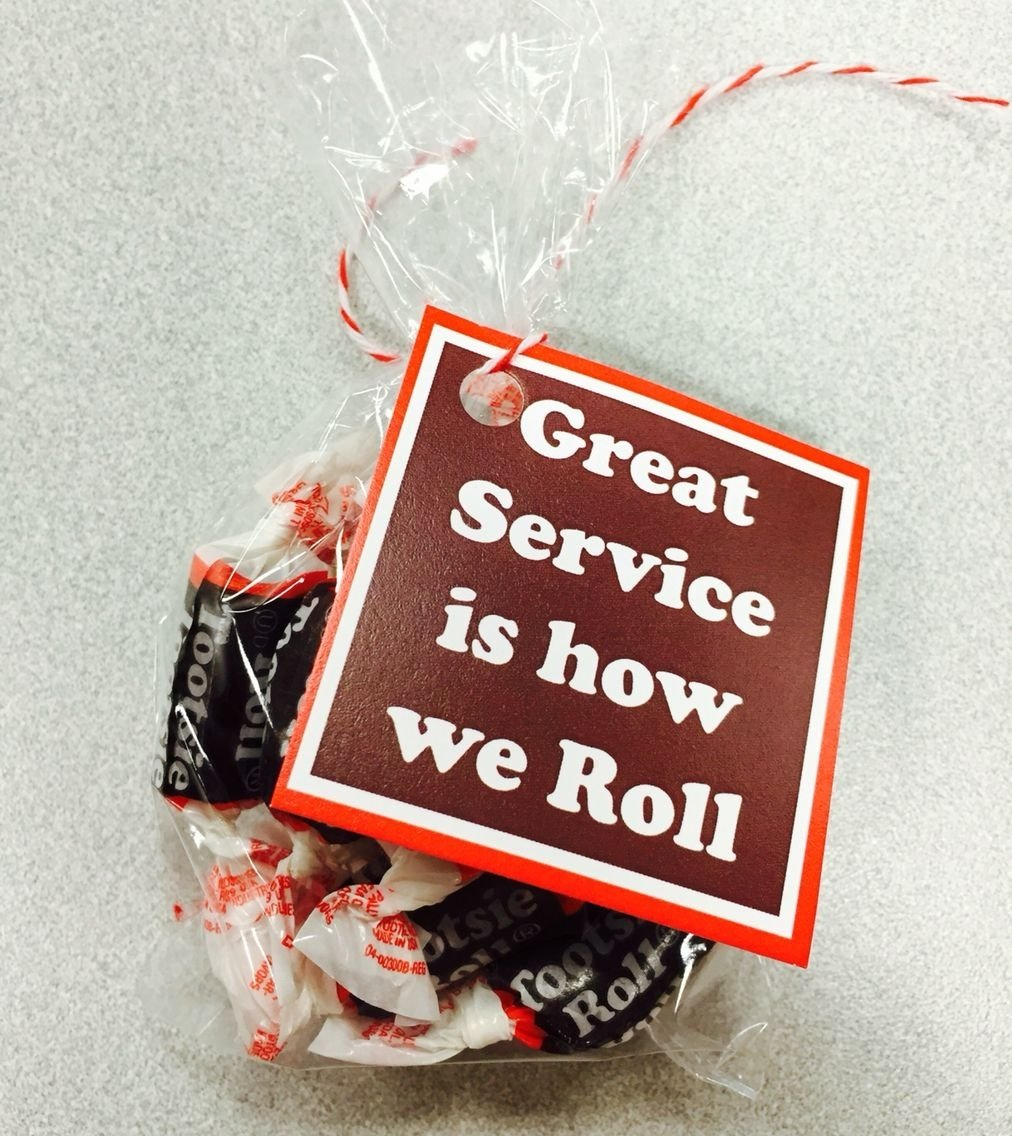 10 Perfect Customer Service Appreciation Week Ideas toostie roll gift tag customer service week customer service and etsy