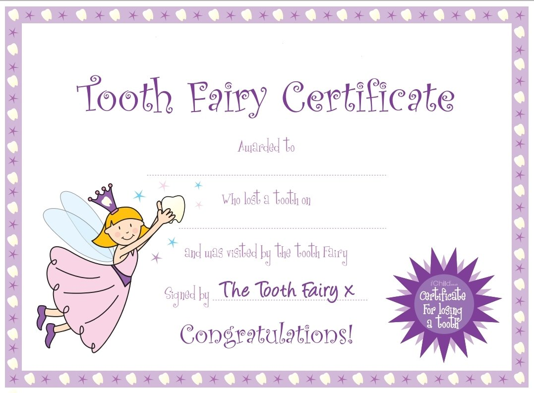 10 Stylish Tooth Fairy Ideas For Boys tooth fairy certificate pinteres 2020