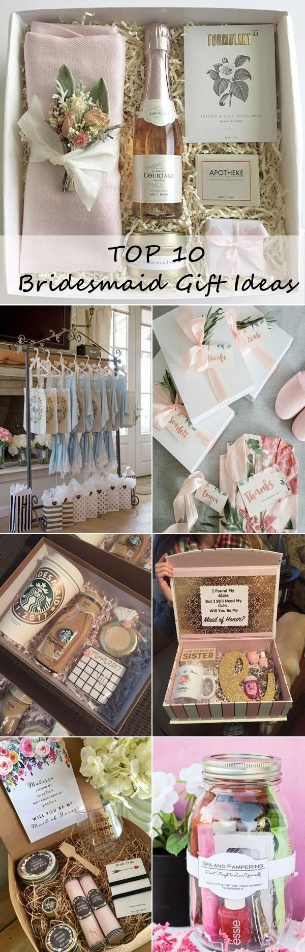10 Cute Ideas For Bridal Party Gifts top 10 bridesmaid gift ideas your girls will love gift wedding 2020