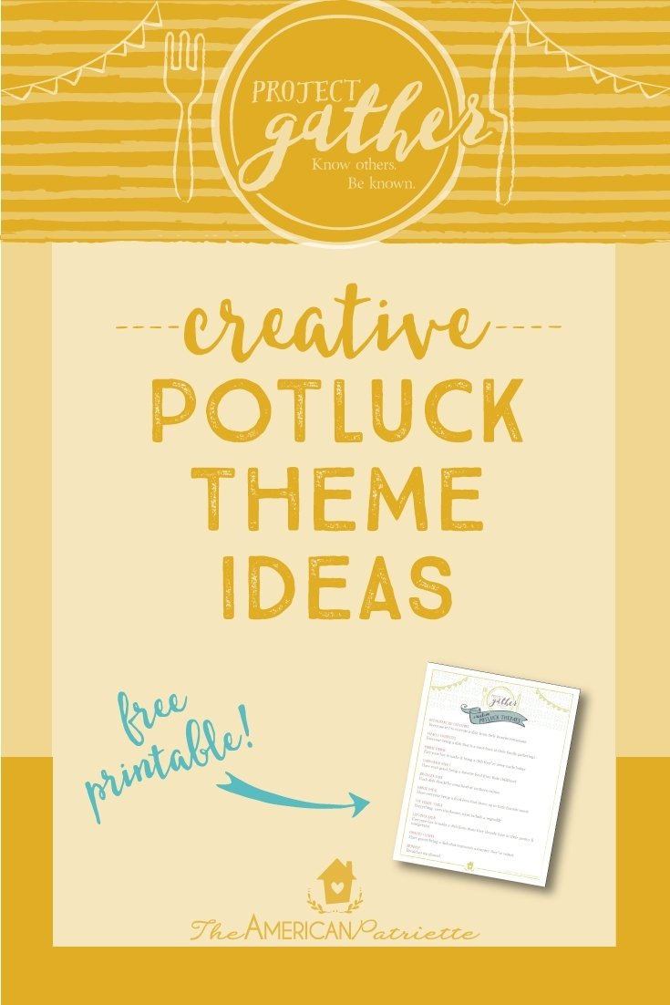top 10 favorite creative potluck themes | theme list, potlucks and