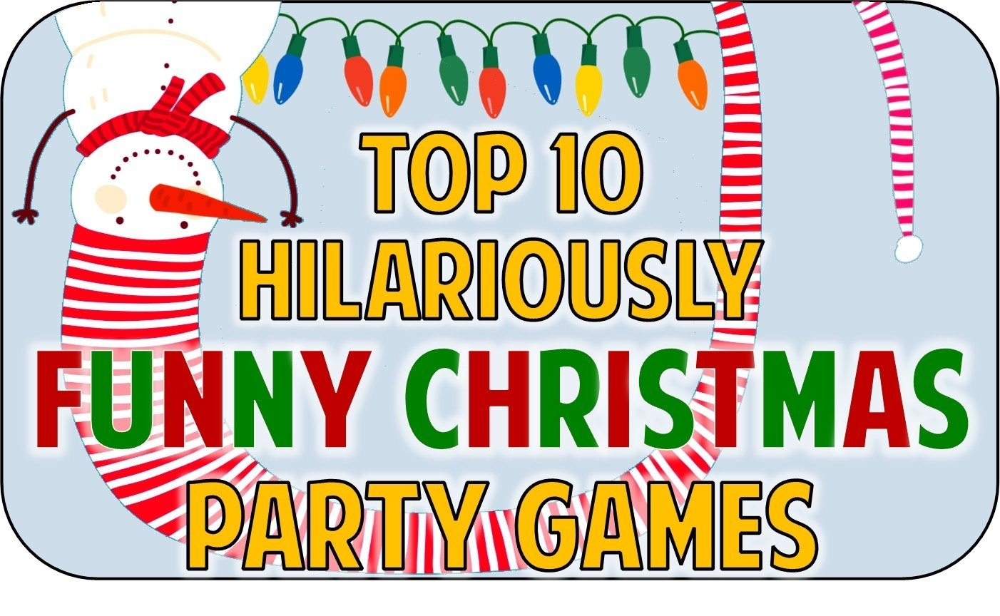 top 10 funny christmas party game ideas