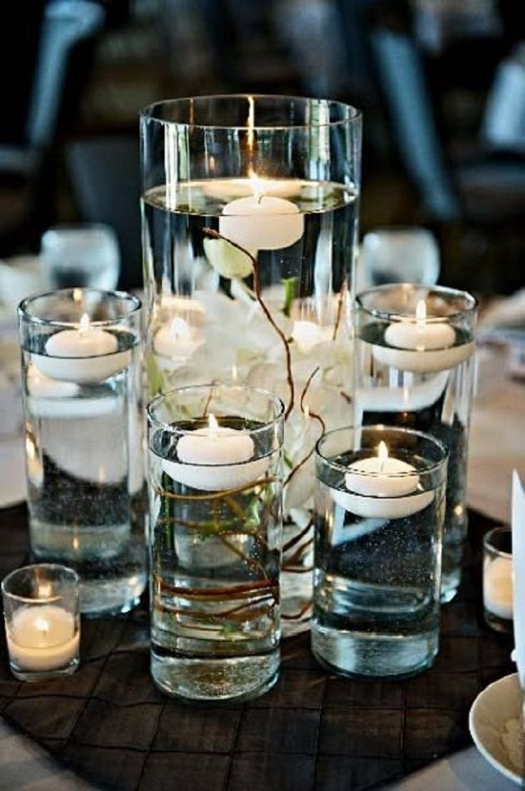 10 Attractive Floating Candle Centerpiece Ideas For Weddings