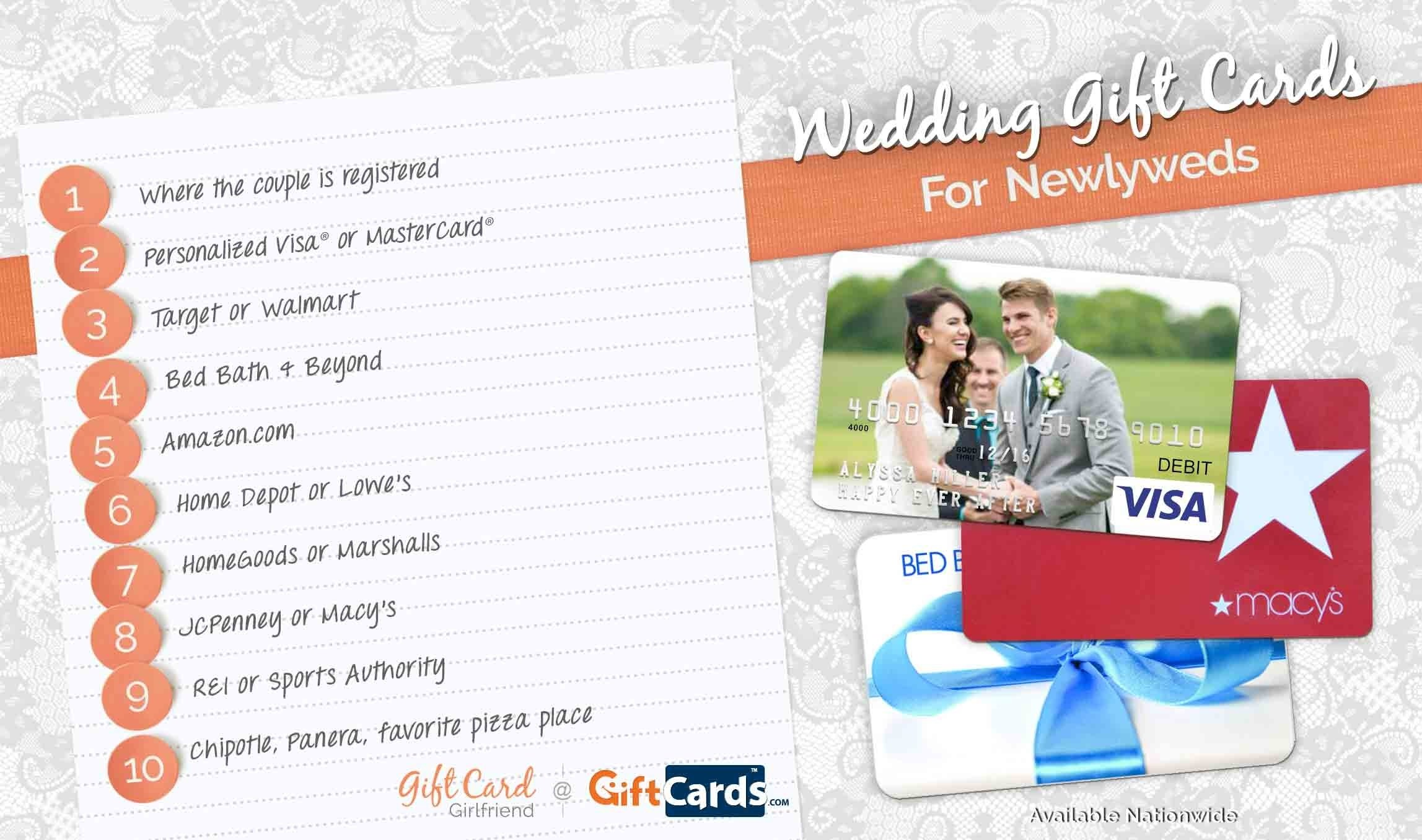 10 Stunning Gift Card Ideas For Couples top 10 wedding gift cards to buy for newlyweds gcg 2021