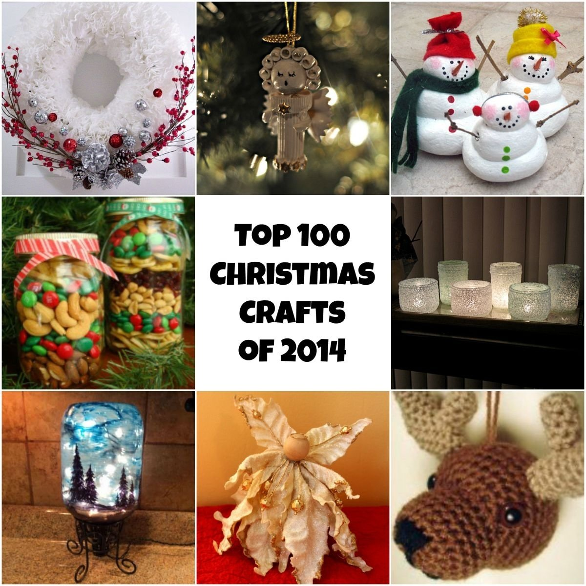 10 Stunning Ideas For Homemade Christmas Gifts top 100 diy christmas crafts of 2014 homemade christmas ornaments 4 2020