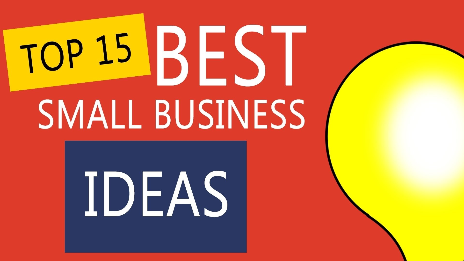 10 Stunning Best New Small Business Ideas top 15 best small business ideas to start your own business youtube 15 2021