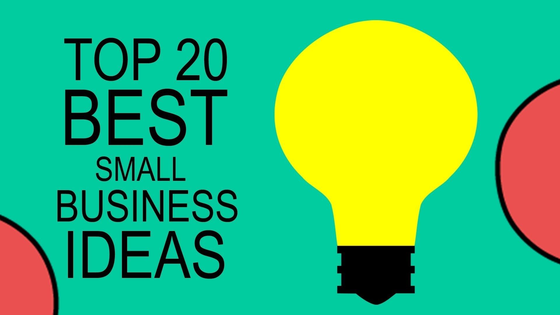 10 Stunning Best New Small Business Ideas top 20 best small business ideas for beginners in 2017 youtube 9 2021