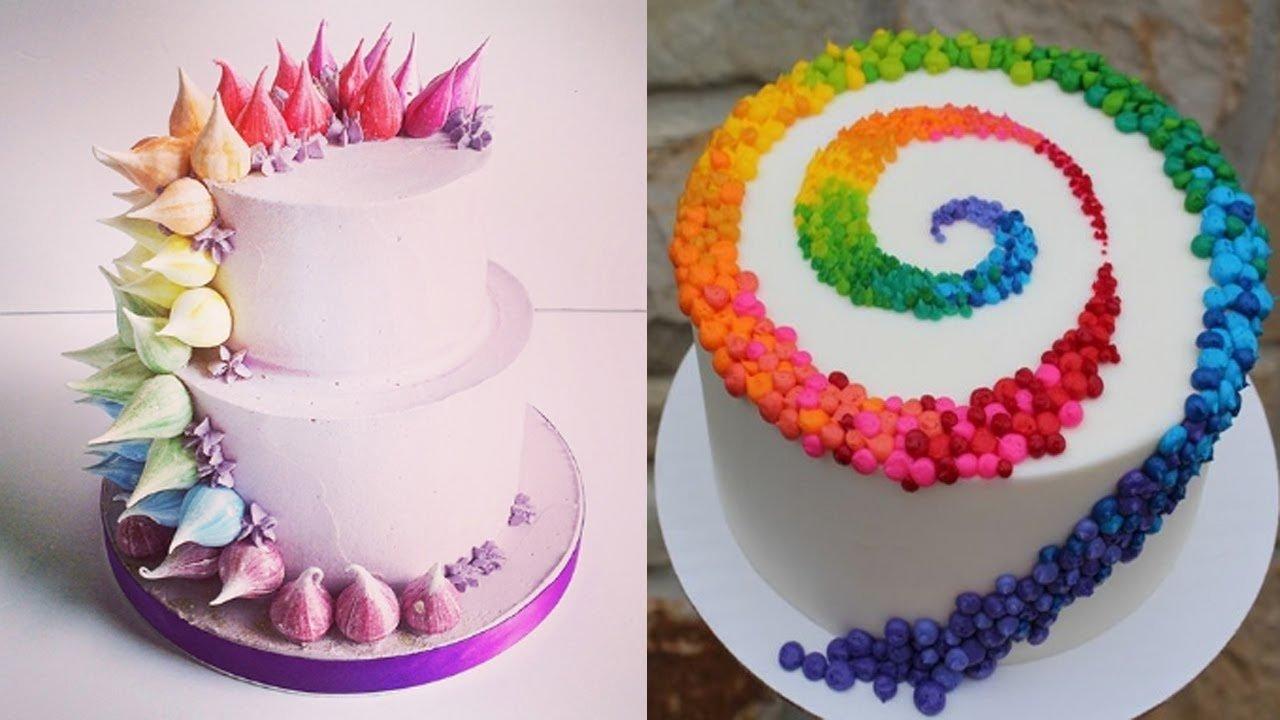 10 Gorgeous Birthday Cake Decorating Ideas For Adults top 20 easy birthday cake decorating ideas oddly satisfying cake 2 2020