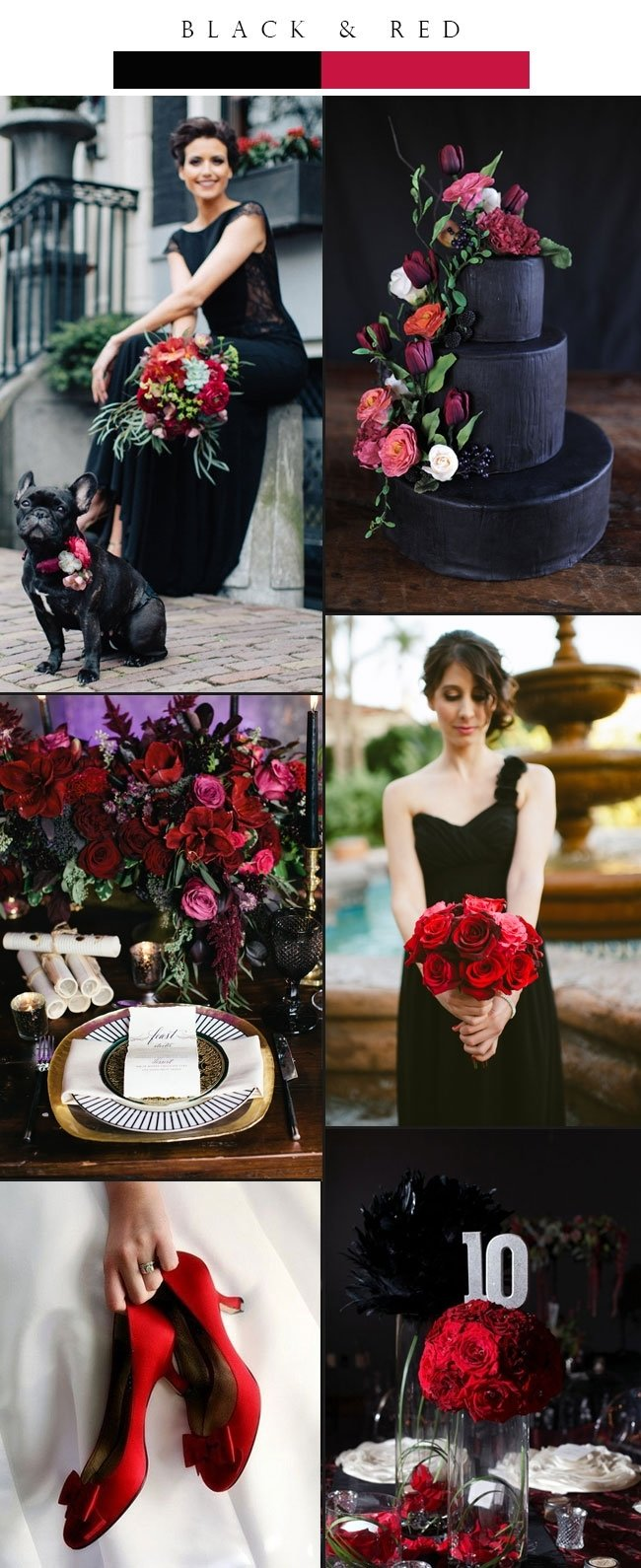 10 Stunning Black And Red Wedding Ideas top 3 glamorous black winter wedding color palette ideas stylish 2020