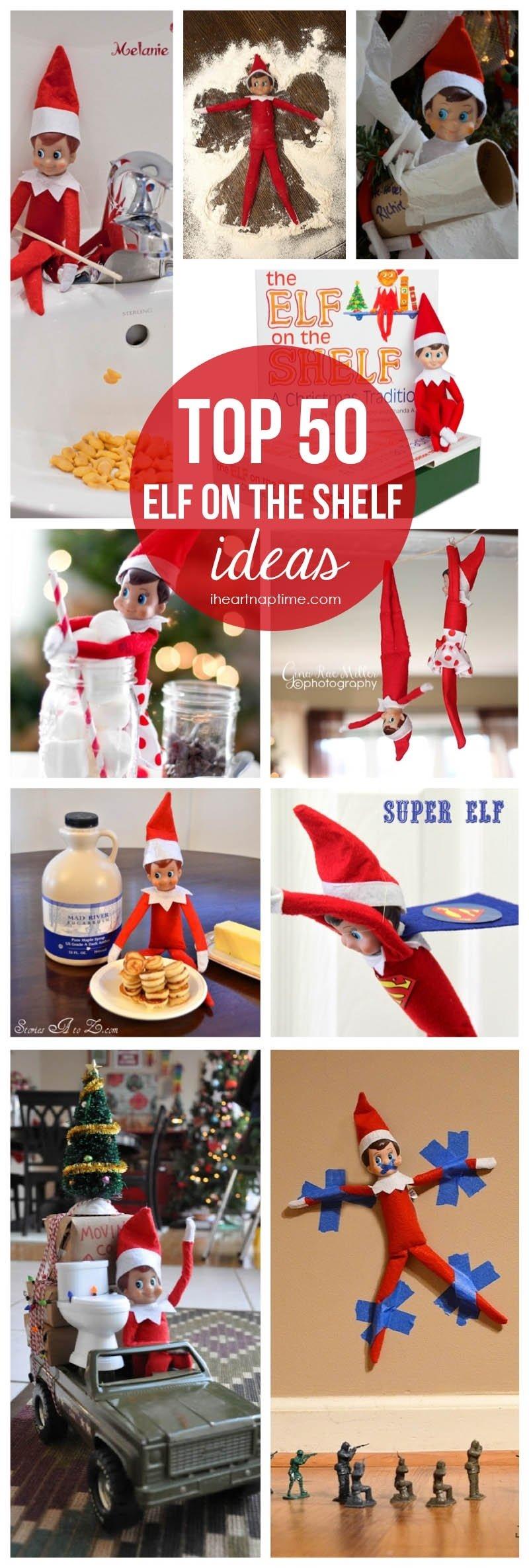 10 Cute Cool Ideas For Elf On The Shelf top 50 elf on the shelf ideas i heart nap time 5 2020
