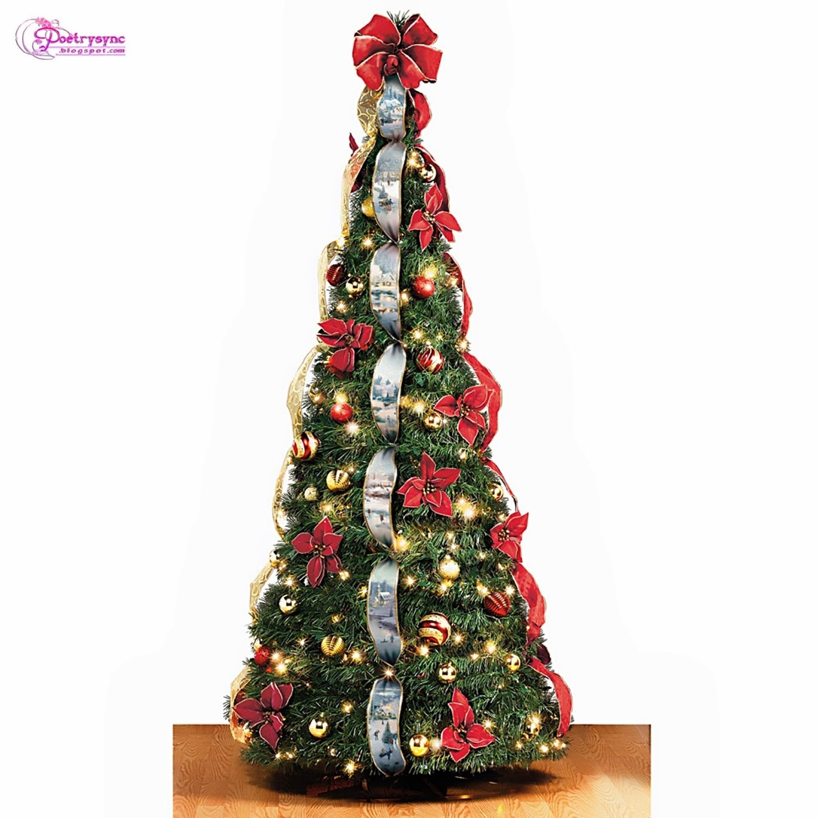 10 Spectacular Christmas Tree Decorating Ideas With Ribbon top 60 christmas tree decorating and present ideas pictures 26 on 2021