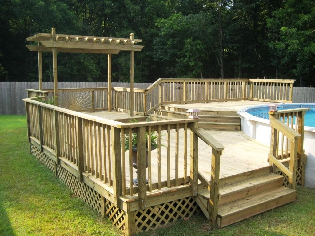 10 Trendy Deck Ideas For Above Ground Pools top above ground swimming pools with decks deboto home design 2021