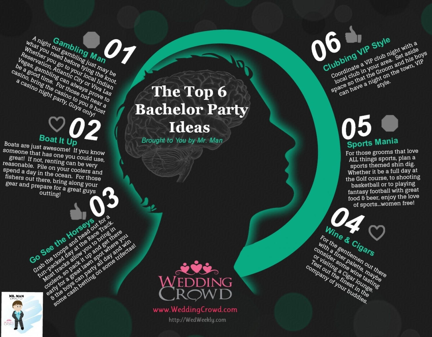 top bachelor party ideas | visual.ly