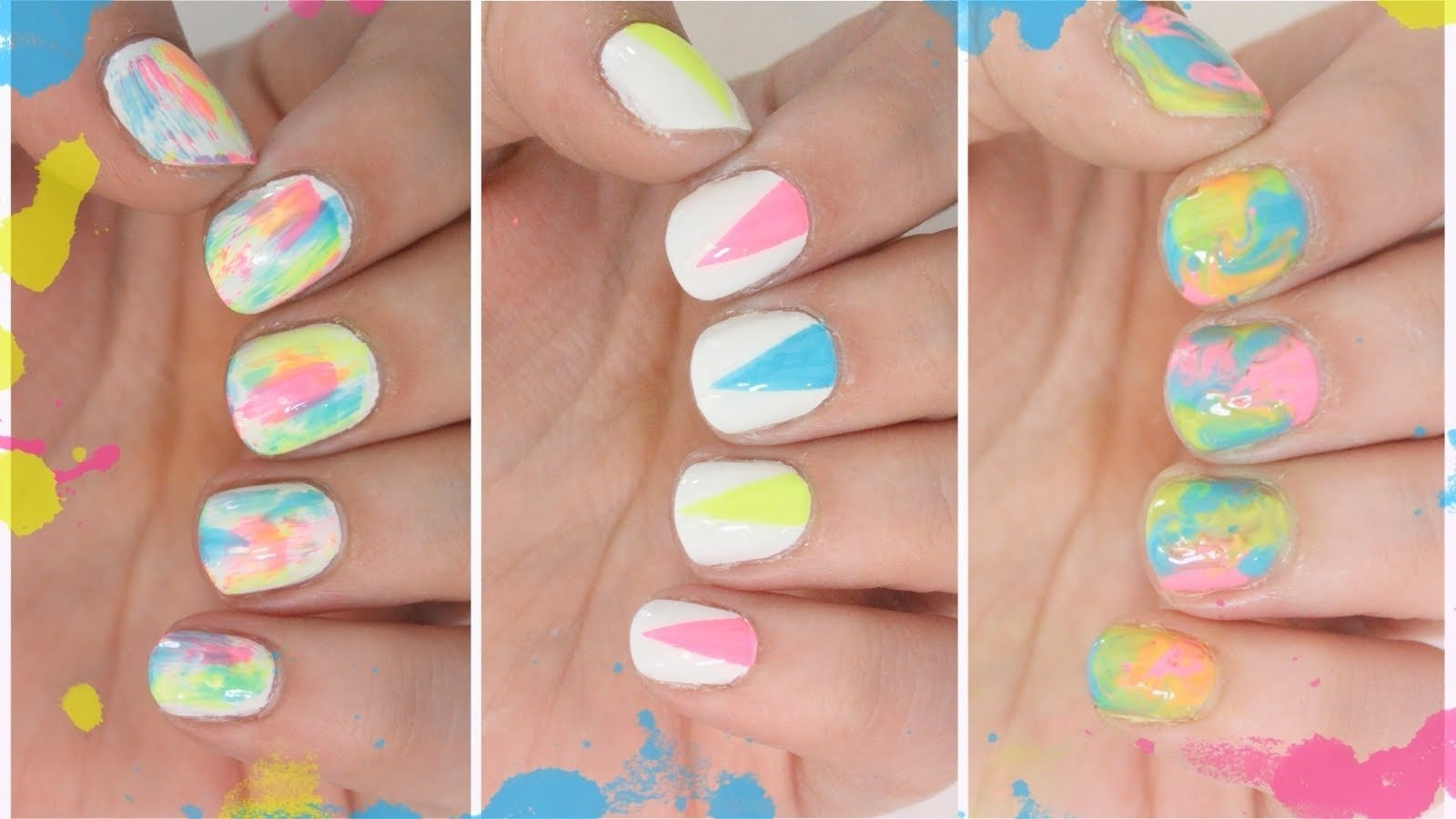 10 Stylish Easy Nail Ideas For Summer top cool summer nail art designs 2018 creative art blog 1 2020