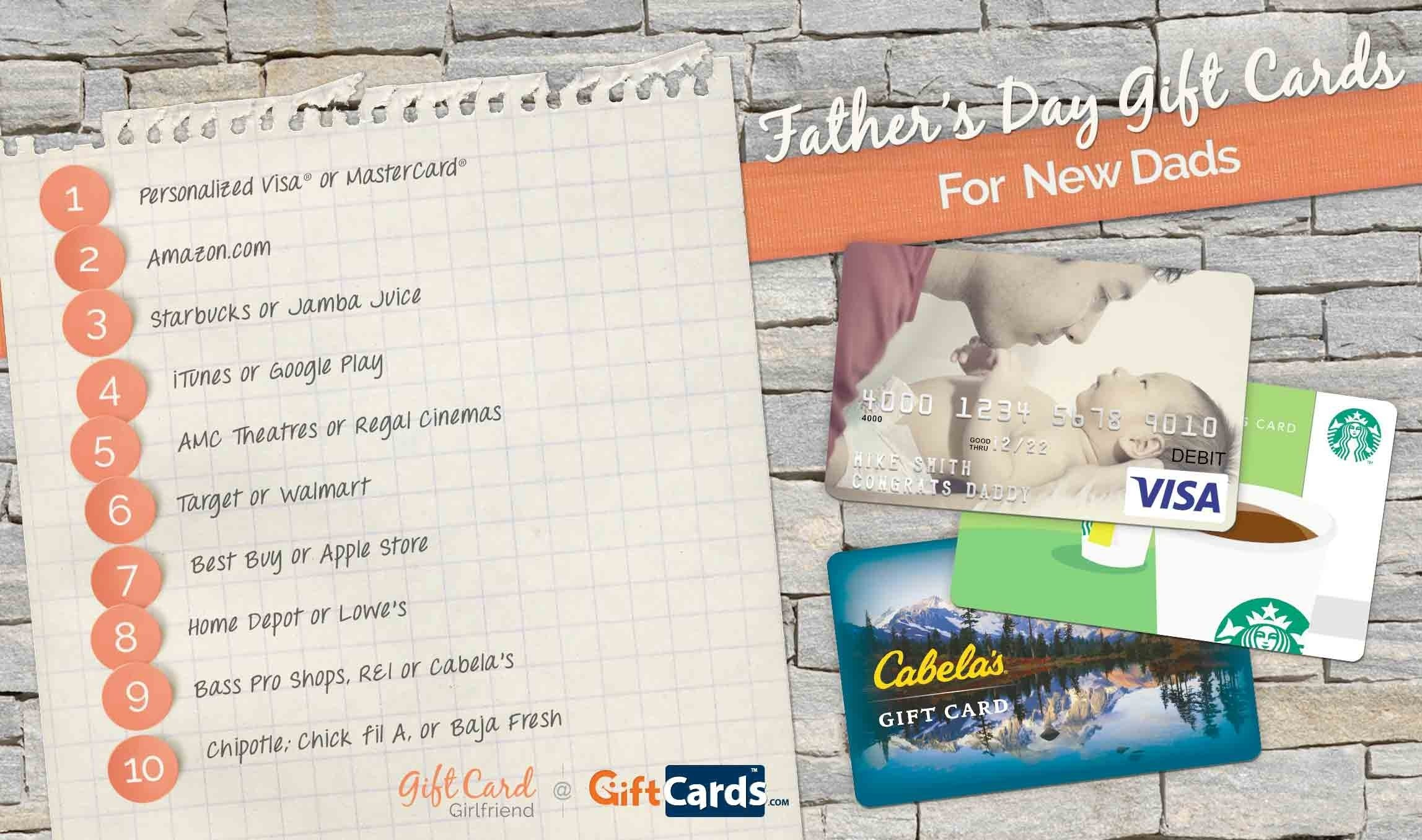 10 Gorgeous Gift Ideas For New Dads top fathers day gift cards for new dads gcg 1 2021