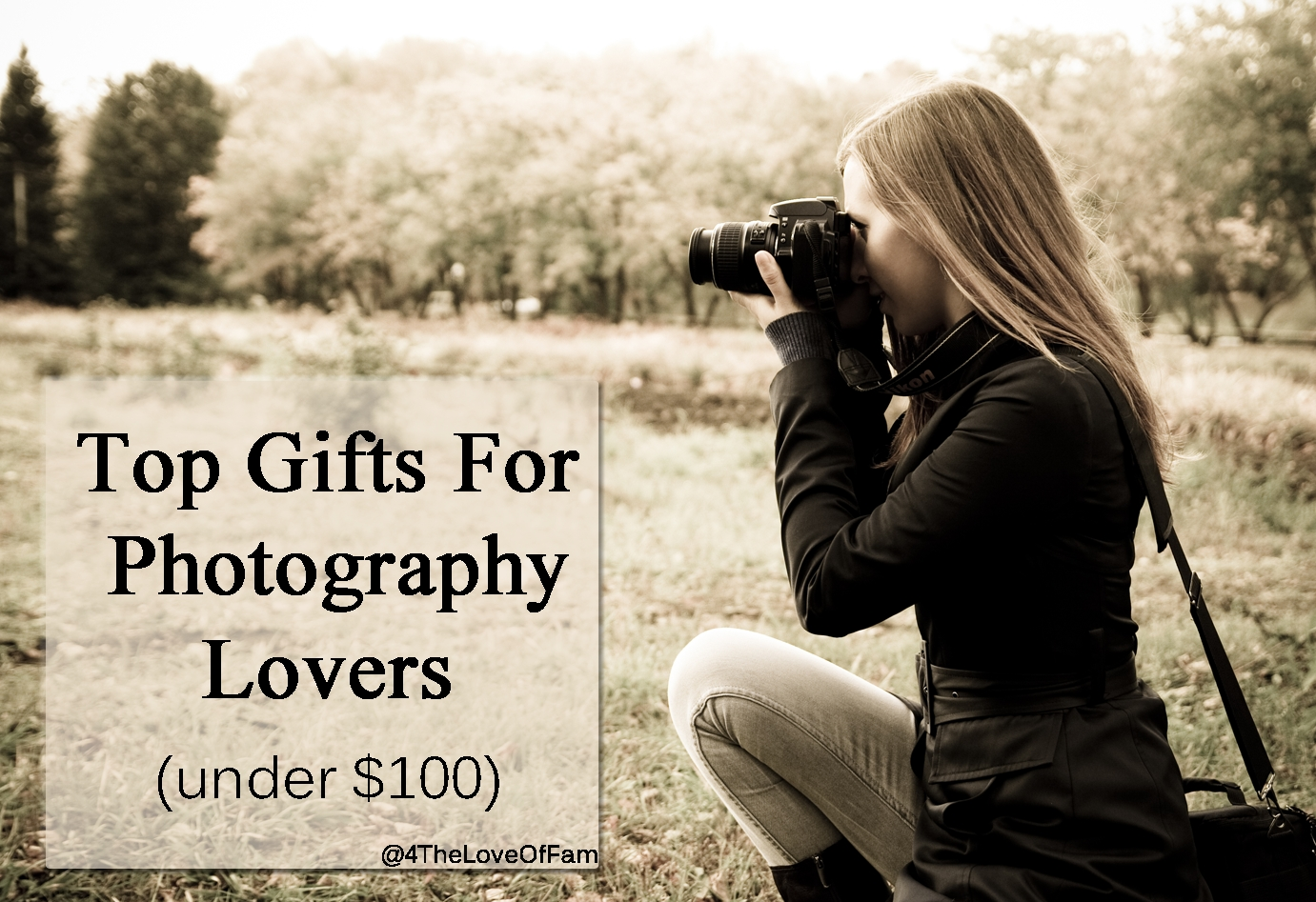 top gifts for photography lovers under $100 - 4 the love of family