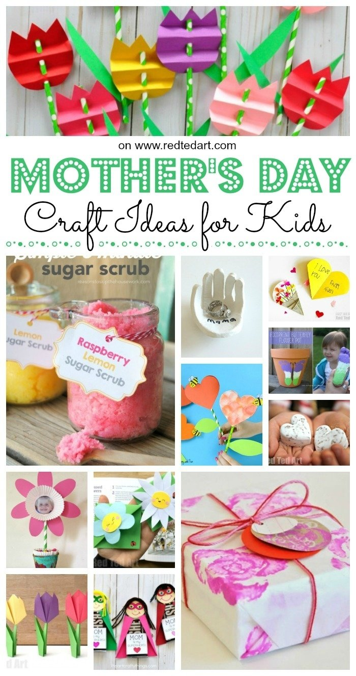 10 Cute Mothers Day Craft Ideas For Kids top mothers day crafts for kids red ted arts blog