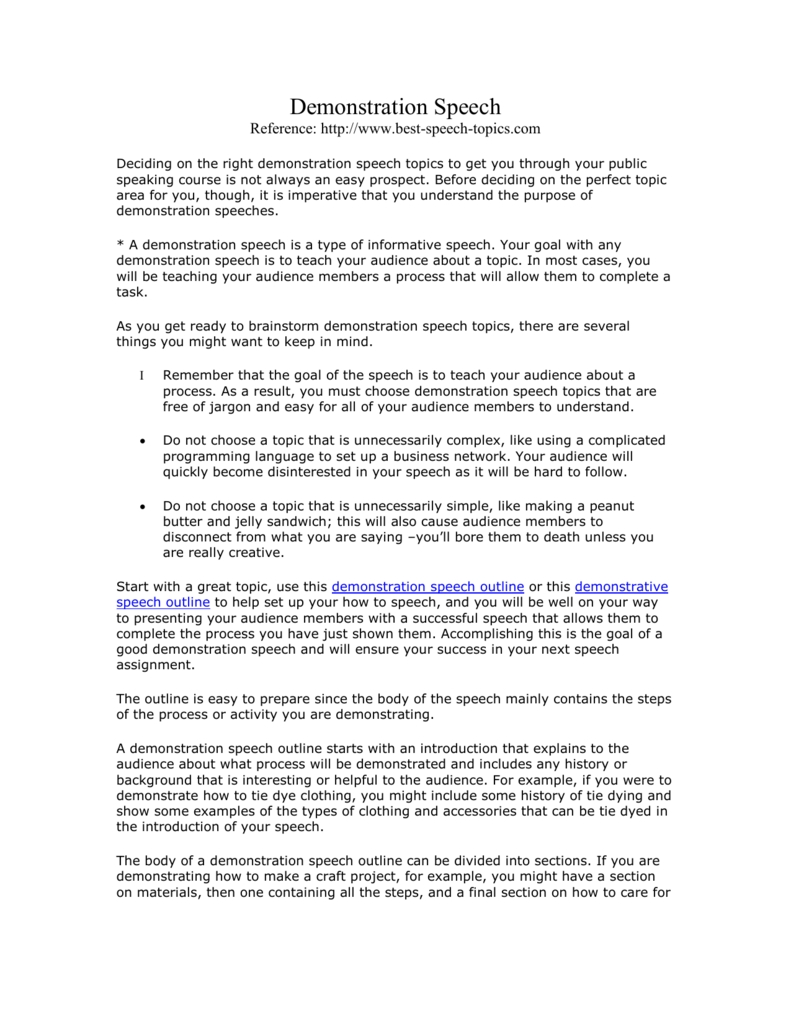 10 Elegant Ideas For A Demonstration Speech topics for a good speech demonstrative speech essay topics for 2020