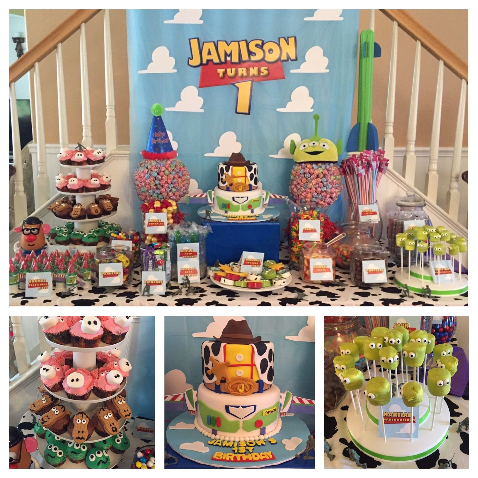 10 Spectacular Toy Story Birthday Party Ideas toy story 1st birthday party dessert table toy story party 2021