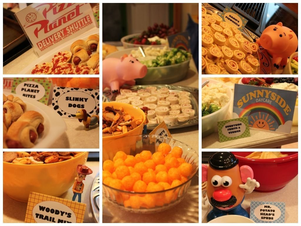 toy story birthday party: the food | initials, toy and birthdays