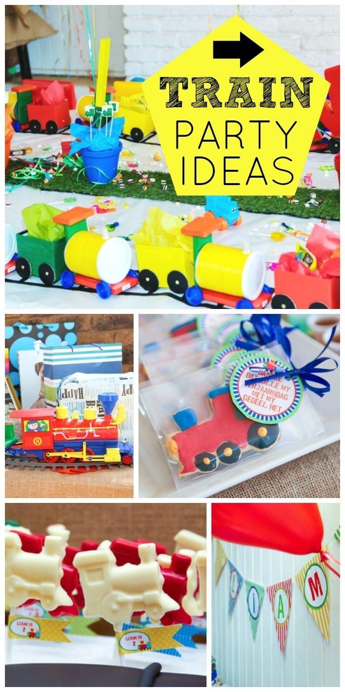10 Great Boys 2Nd Birthday Party Ideas Trains Liams 2nd Train Boy