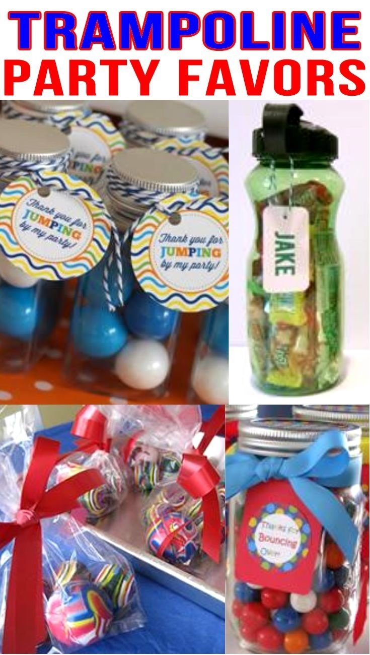 10 Lovable Party Favor Ideas For Boys trampoline party favor ideas trampoline birthday party trampoline 1 2020