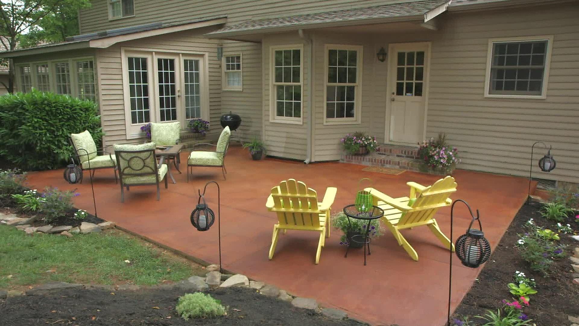 transform a concrete patio video | diy