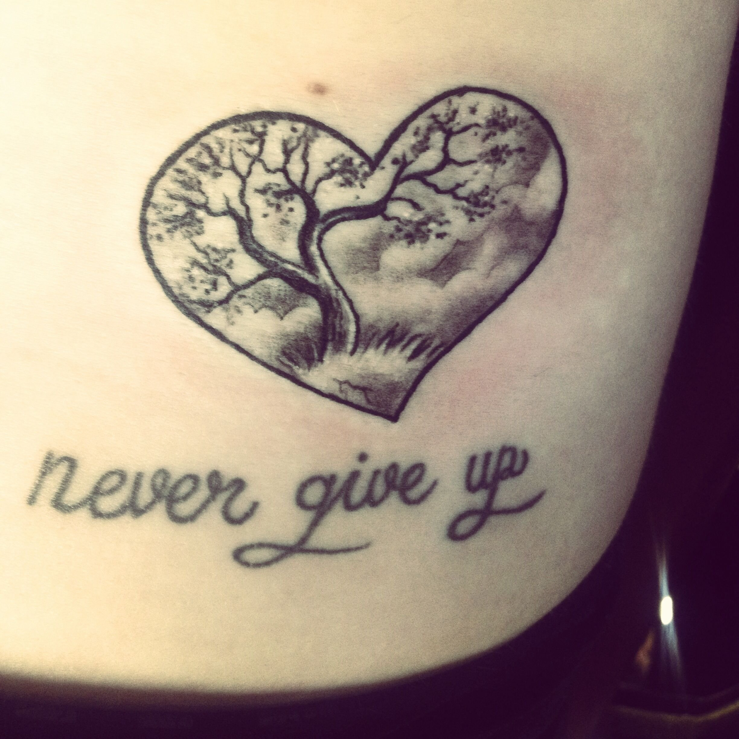 10 Elegant Never Give Up Tattoo Ideas tree of life tattoo never give up in memory of my grandfather 2020