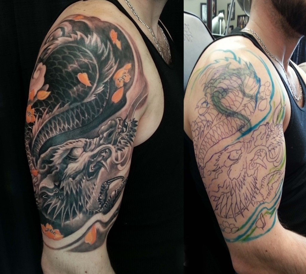 10 Spectacular Cover Up Ideas For Tattoos tribal arm cover up tattoos arm tattoo cover up ideas 34 tribal