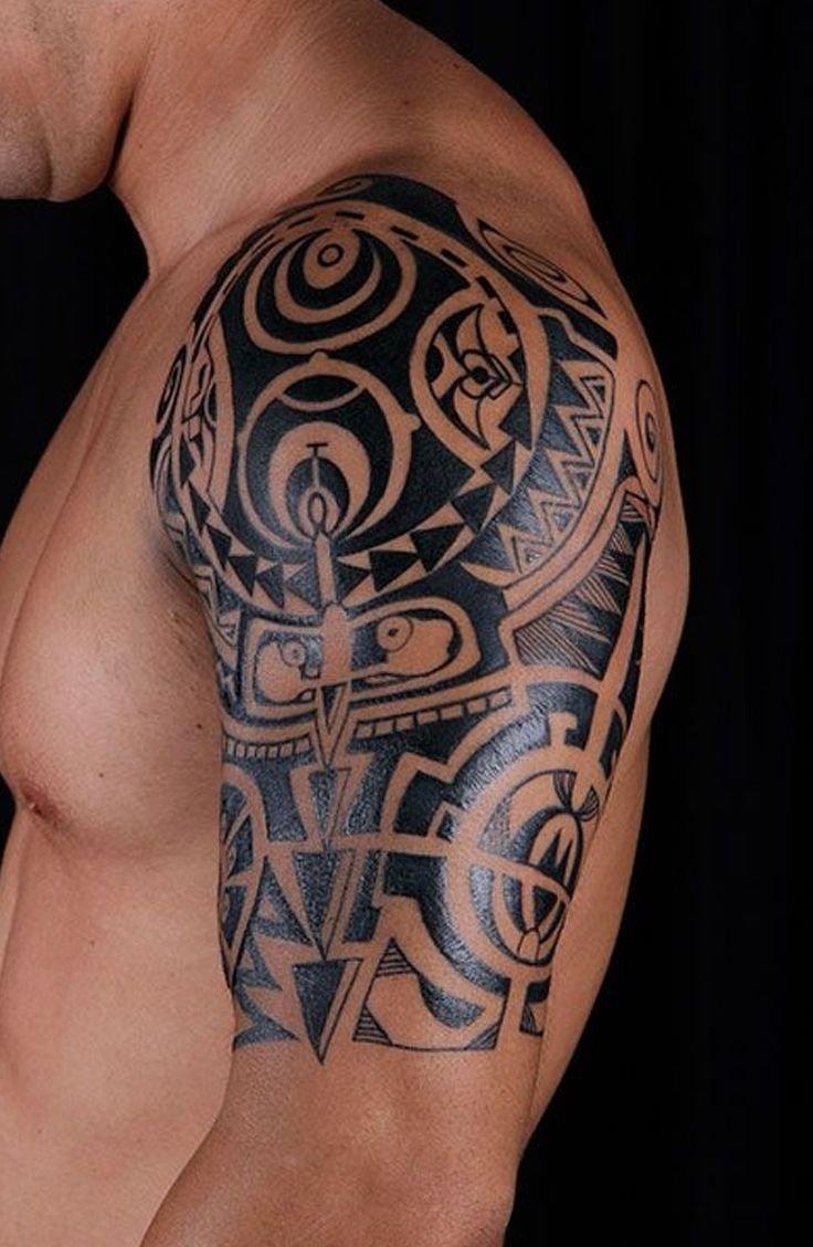 10 Stylish Tribal Tattoo Ideas For Guys tribal shoulder tattoos for guys tattooideaslive tattoos 1 2020