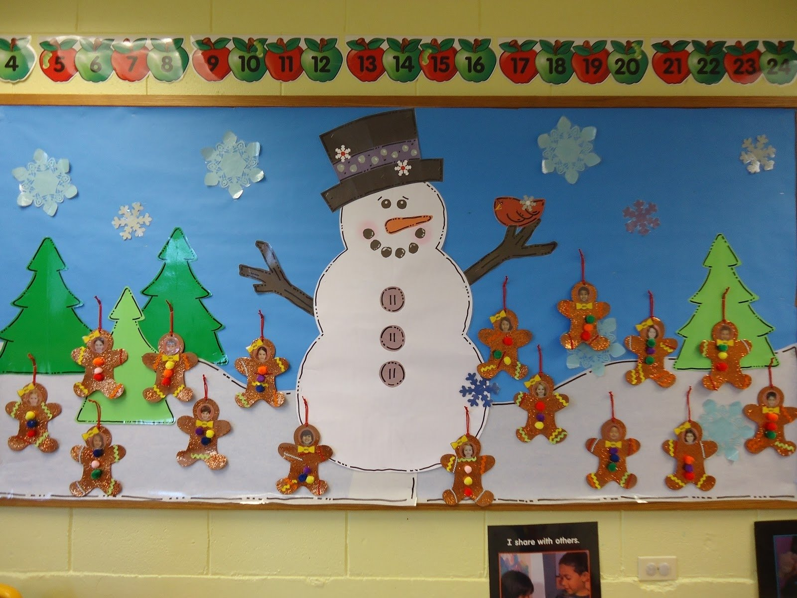 10 Wonderful Preschool Christmas Bulletin Board Ideas trinity preschool mount prospect gingerbread ornaments snowman 2 2020