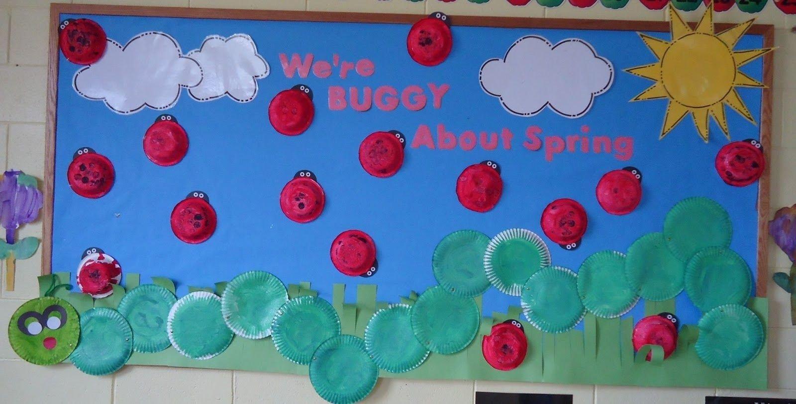 10 Attractive Spring Bulletin Board Ideas Preschool trinity preschool mount prospect were buggy about spring with 1 2021